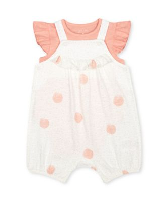 Mothercare Little Jungle Spot Jersey Bibshorts And Bodysuit Set