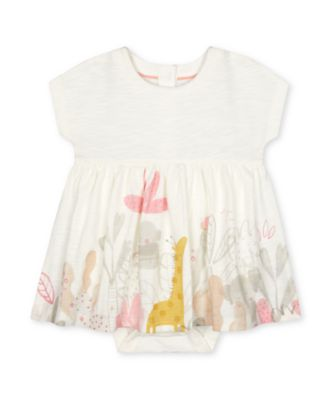 Mothercare Little Jungle Animal Border Print Romper Dress