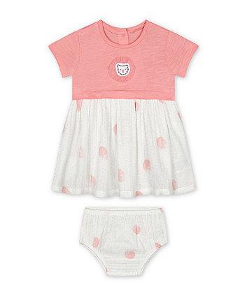 Mothercare Pink Spot Twofer Dress