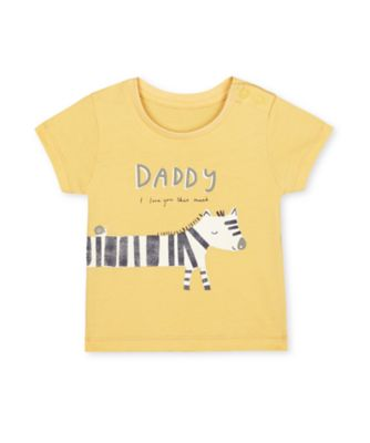 Mothercare Little Safari Daddy Zebra Short Sleeve T-Shirt