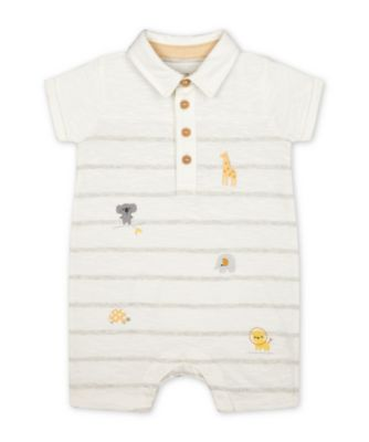 Mothercare Little Safari Pique Badges Romper