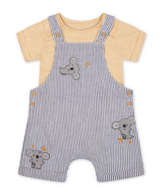 Mothercare Little Safari Woven Stripe Bibshort Set