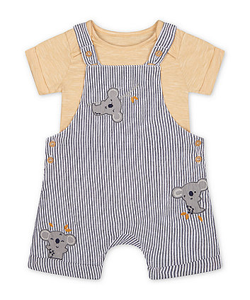 Mothercare Koala Bibshorts And Bodysuit Set