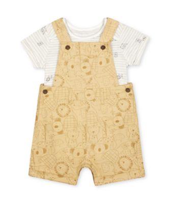 Mothercare Little Safari Yellow Woven Bibshort Set