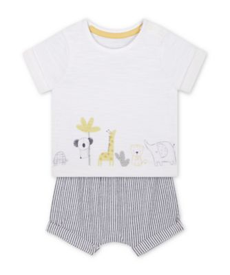 Mothercare Little Safari T-Shirt And Shorts Set