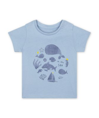 Mothercare Under The Sea Whale Short Sleeve T-Shirt