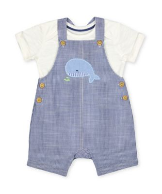 Mothercare Under The Sea Seersucker Bibshort Set
