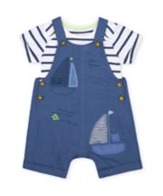 Mothercare Boat Bibshorts And Bodysuit Set