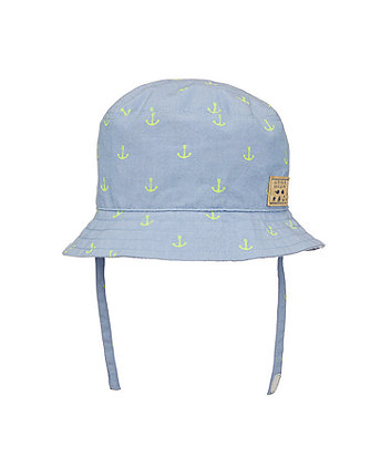 Mothercare Chambray Anchor Hat