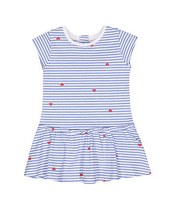 Mothercare Blue Striped Drop-Waist Dress