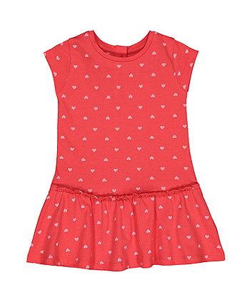 Mothercare Red Heart Drop-Waist Dress