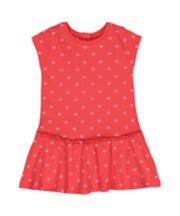 Mothercare Red Heart Drop-Waist Dress