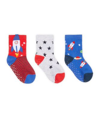 Mothercare Rocket Novelty Socks With Slip-Resist Soles - 3 Pack
