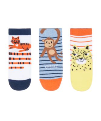 Mothercare Jungle Animals Socks With Slip-Resist Soles - 3 Pack