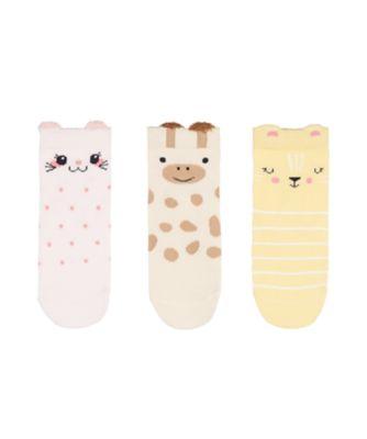 Mothercare Animal Socks With Slip-Resist Soles - 3 Pack