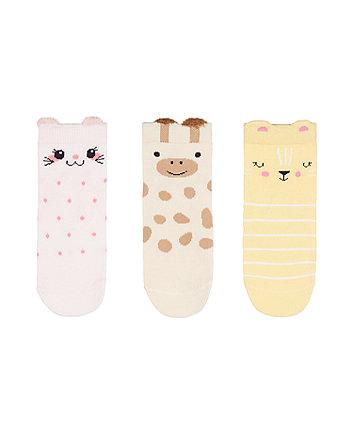 Mothercare Animal Socks - 3 Pack