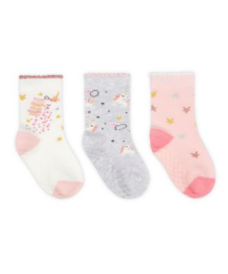 Mothercare Unicorn And Star Socks With Slip-Resist Soles - 3 Pack
