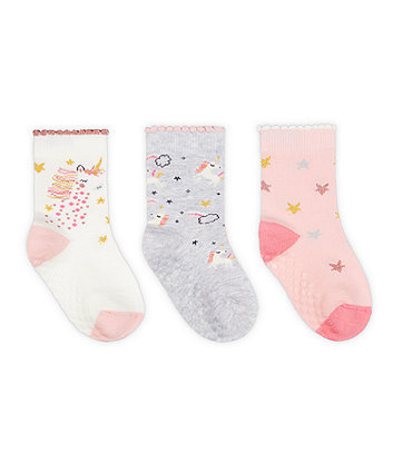 Mothercare Unicorn And Star Socks - 3 Pack