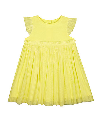 Mothercare Yellow Tulle Dress