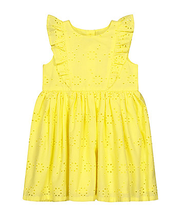 Mothercare Fashion Yellow Broderie Dress
