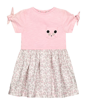 Mothercare Fashion Leopard Print Twofer Dress