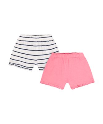 Mothercare Pink Horizons Stripe Shorts - 2 Pack