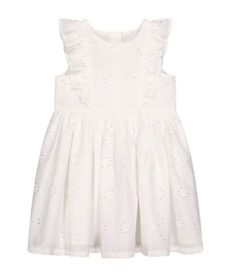 Mothercare Pink Horizons White Broderie Dress