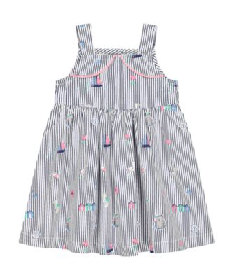 Mothercare Pink Horizons Stripe Allover Print Woven Dress