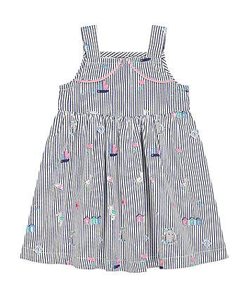 Mothercare Nautical Striped Woven Dress