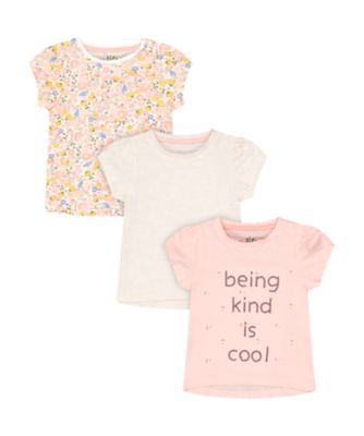 Mothercare Beachcomber Kind Is Cool Short Sleeve T-Shirts - 3 Pack
