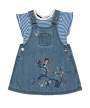 Mothercare Unicorn Pinny Dress And T-Shirt Set