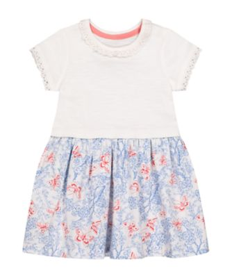 Mothercare Fairytale Butterfly Floral Twofer Short Sleeve Dress
