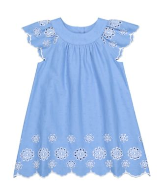 Mothercare Fairytale Blue Dobby Short Sleeve Dress