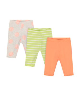 Mothercare Fresh Dress Allover Print And Stripe Cropped Legging - 3 Pack