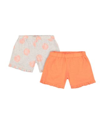 Mothercare Fresh Dress Orange Allover Print Shorts - 2 Pack