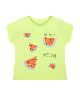 Mothercare Fresh Dress Green Melon Short Sleeve T-Shirt