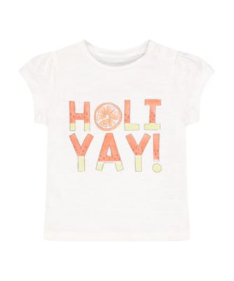 Mothercare Fresh Dress White Holiyay Short Sleeve T-Shirt