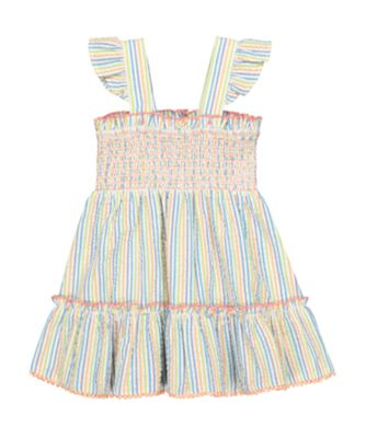 Mothercare Fresh Dress Stripe Seersucker Dress