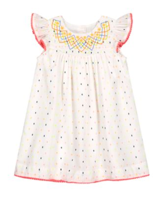 Mothercare Fresh Dress Neon Dobby Woven Dress