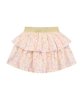 Mothercare Floral Tiered Skirt