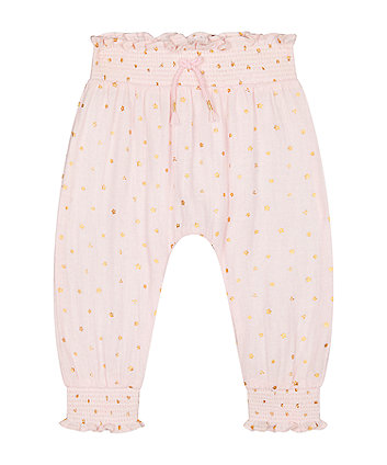 Mothercare Pink Star Harem Trousers