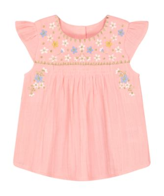 Mothercare Beachcomber Pink Embroidered Woven Blouse