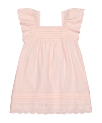 Mothercare Beachcomber Pink Dobby Broderie Dress