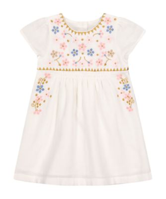 Mothercare Beachcomber White Embroidery Dress