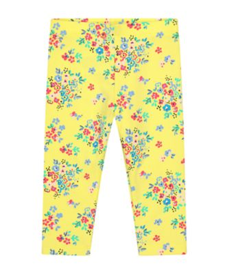 Mothercare Statement Yellow Floral Leggings