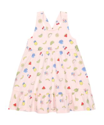 Mothercare Statement Pink Fruit Tiered Dress