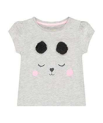 Mothercare Grey Panda T-Shirt