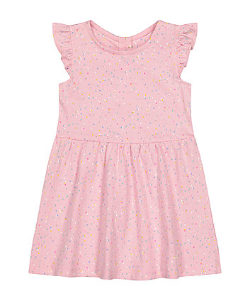 Mothercare Pink Confetti Jersey Dress