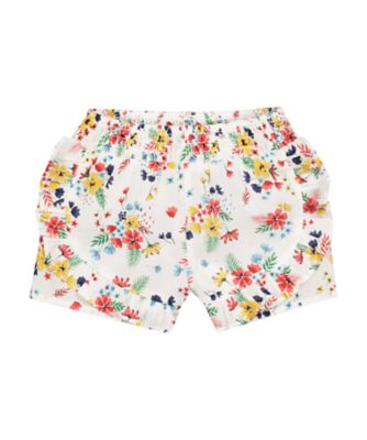 Mothercare Tropical Garden Party Floral Frill Shorts