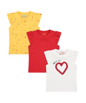 Mothercare Tropical Garden Party Wild At Heart Short Sleeve T-Shirt - 3 Pack